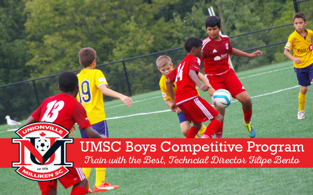 Unionville Milliken Soccer Club - UMSC Boys Competitive Program